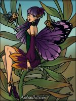 Pretty Pixie ~ Abella and the Bees by MiniatureBlueOwl