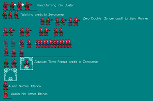 Austin Sprite Sheet Part 1 by creeperboo