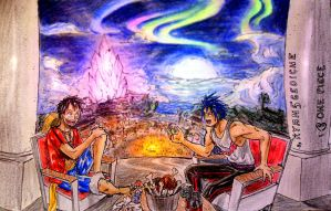 Luffy and Fanel at the festival (One Piece) by Ryan5Gediche