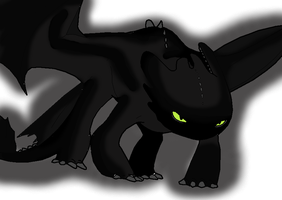 Angry Toothless by EctoPhantomiix