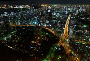 Tokyo - View From Tokyo Tower by kucingitem