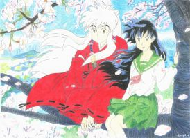 Inuyasha and Kagome by Luky314