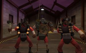 My Three Demoman Melee loadout by TheNeonInferno