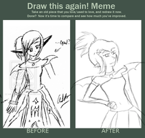 Before and After- Opal Sketch by Astralstonekeeper