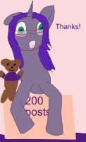 Thanks for 60+ watchers and 200 posts! by WoefulWriters