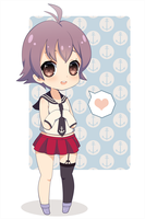 [Kancolle] Sakawa chibi by Miss-It-Girl
