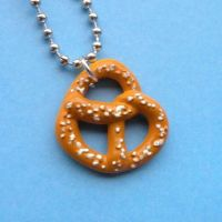 Cute Pretzel Necklace by AsianBunni