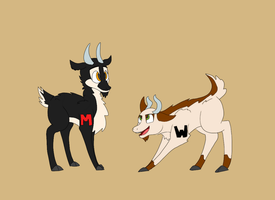 Markigoat and Wadegoat by LoviLove112