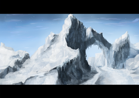 Ice environment speedpainting by artificialguy