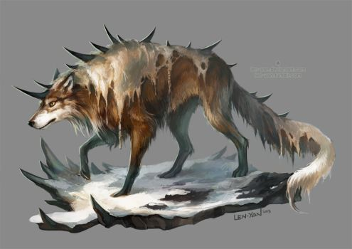 spiked wolf by len-yan