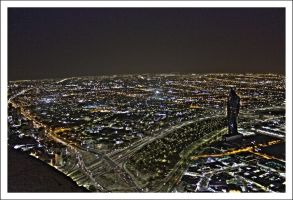 Kuwaitnight horizon by Lebaneseness