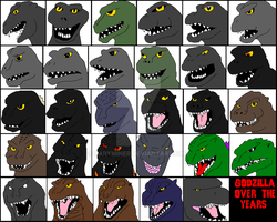 Timeline Of Godzilla by BaryMiner