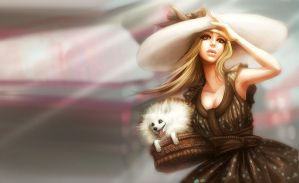 Summer of Pomeranian delivery by nell-fallcard