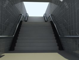 Staircase outdoors vray by ragingpixels