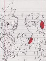 Megaman Starforce and Exe 3 by ColinNikka