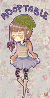 Hipster Adoptable ((SOLD)) by averyanime