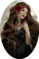 Portrait of a Vampiress by mshellee