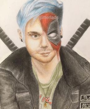 michael clifford and deadpool by Danuftw