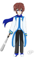 Keiichi Maebara in Kaito's outfit by RosaPeach