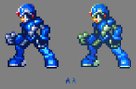 MMZ X with different palettes by MegaManGamer123