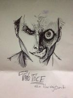 TWO FACE DOODLE by Zambiedambie