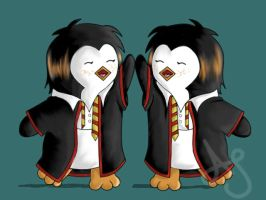 HP Penguins- Gred and Forge by Akei-Tyrian