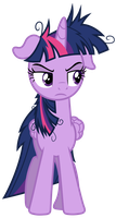 Grumpy Twilight Sparkle by 90Sigma