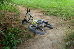 Abandoned bicycle. L1020344, with story by harrietsfriend