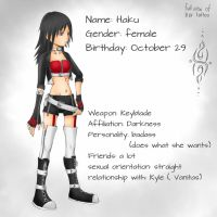 Haku: New design and short bio by HakuMizuki