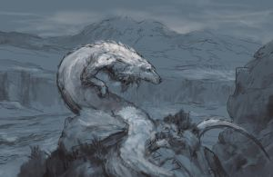 Falkor Sketch by AndrewRyanArt