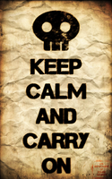 Keep Calm and Zombie On by aguba