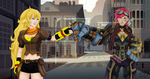 Yang and Vi Fist Bump by Xcas92X