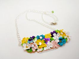 Floral Necklace by SmallCreationsByMel