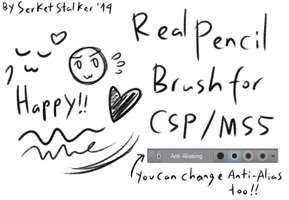 + Real Pencil Brush | For MS5/CSP + by Serket-XXI