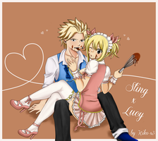 Choco Time [Sting x Lucy] by Kiko-x3