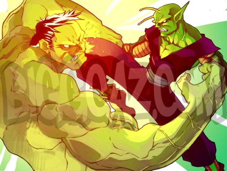 Piccolo vs. Hulk by BiggCaZ