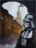Lord Vader in a gate of Nikiszowiec by sanderus