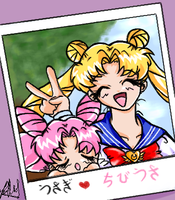 Usagi and Chibiusa by quark777