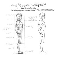 Male Side view/Proportions. by JetEffects