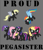 'Proud Pegasister' Poster by SamoyedWarrior