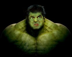 Mr. Bean As The Hulk by LevonHackensaw