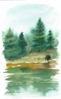 Forest Watercolor by CheshFire
