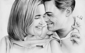 Kate Winslet and Leo Di Caprio by anokaxlegolas