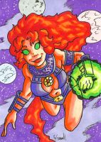 Starfire Sketch Card by ibroussardart