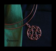 Copper necklace II by Guenieviere