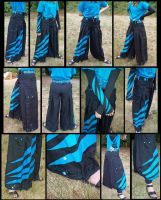 false hakama black-blue pants by gryphonsshadow