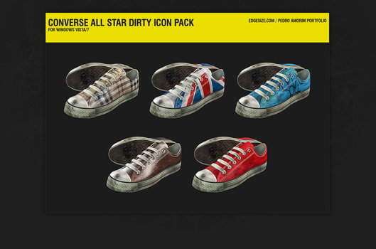 Converse All Star Dirty Icons by pedroamorim