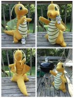 Dragonite Plushie by Mermade4u
