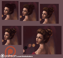 How I paint hair - sometimes by Thubakabra