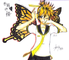 Butterfly on your right shoulder by KyouPei